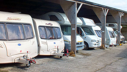Secure under-cover CaSSOA gold caravan storage Cornwall