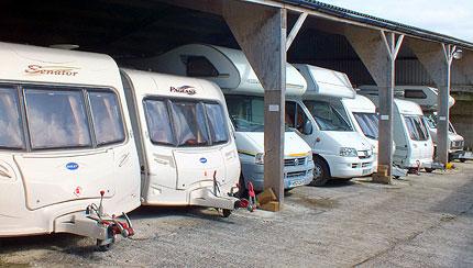 Secure under-cover CaSSOA gold caravan storage Cornwall